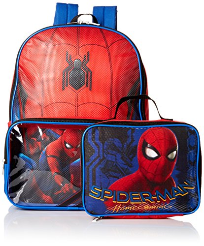 207f7435d478 Marvel Boys' Spiderman Backpack with Lunch Window Pocket